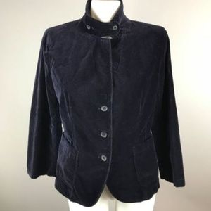 J. Crew Black Velvet Long Sleeve Blazer Jacket L